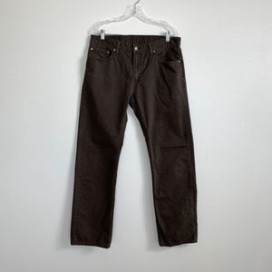 Mens Levis 514 Size 34 x 32 Brown Twill Pants